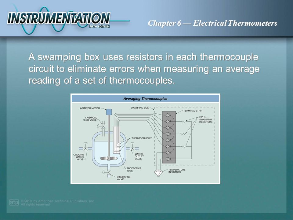 Chapter 6 Electrical Thermometers A thermopile consists of several thermocouples wired in series in order to amplify the signal.