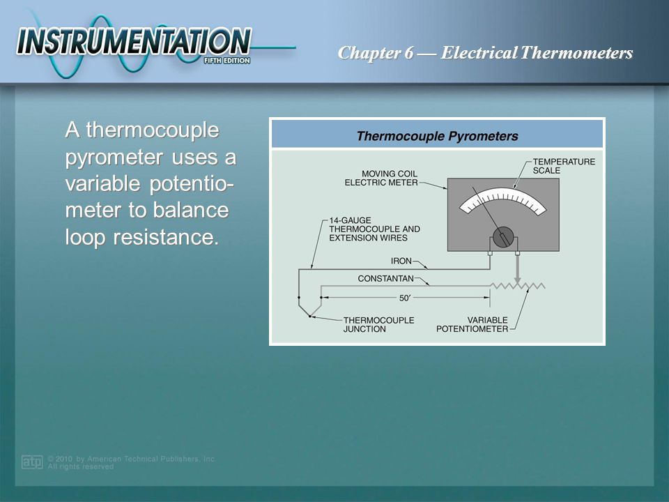 Chapter 6 Electrical Thermometers A swamping box uses resistors in each thermocouple circuit to eliminate errors when measuring an average reading of