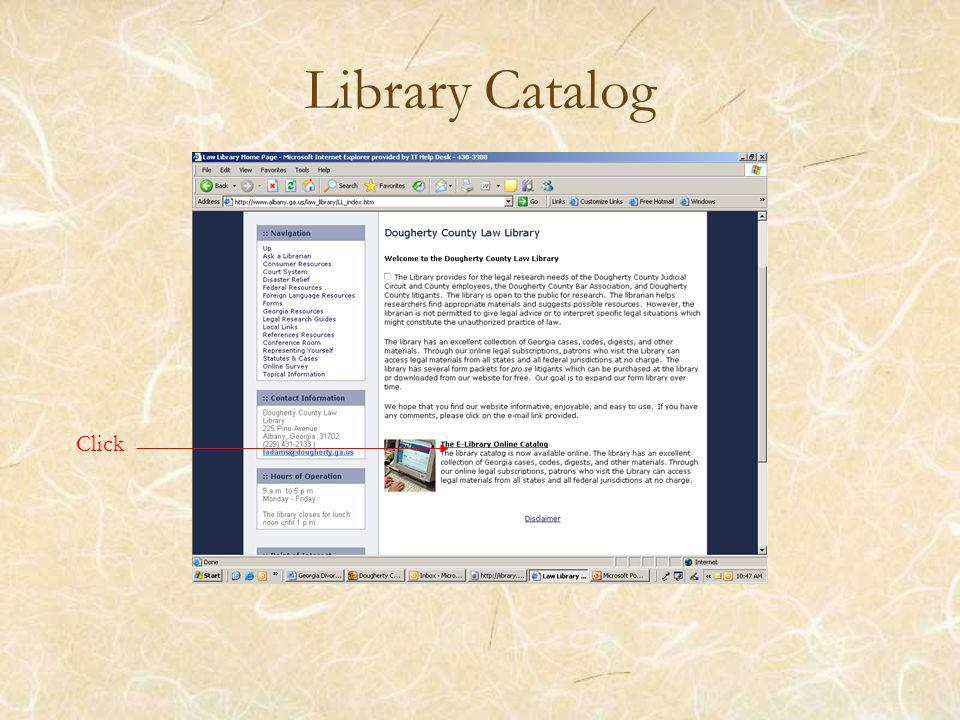 Library Catalog Click