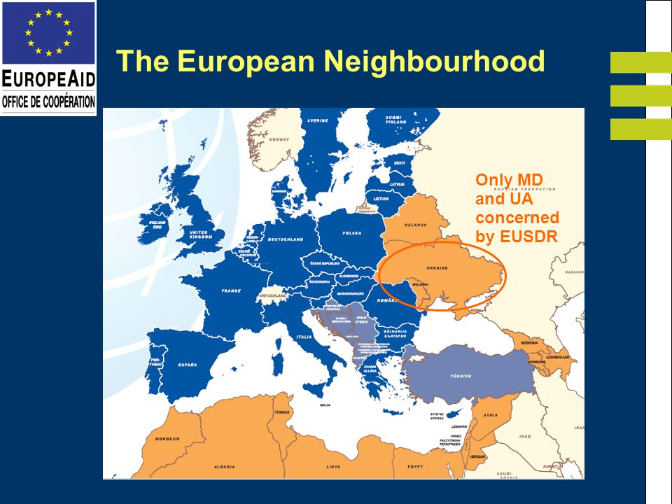 The European Neighbourhood Only MD and UA concerned by EUSDR