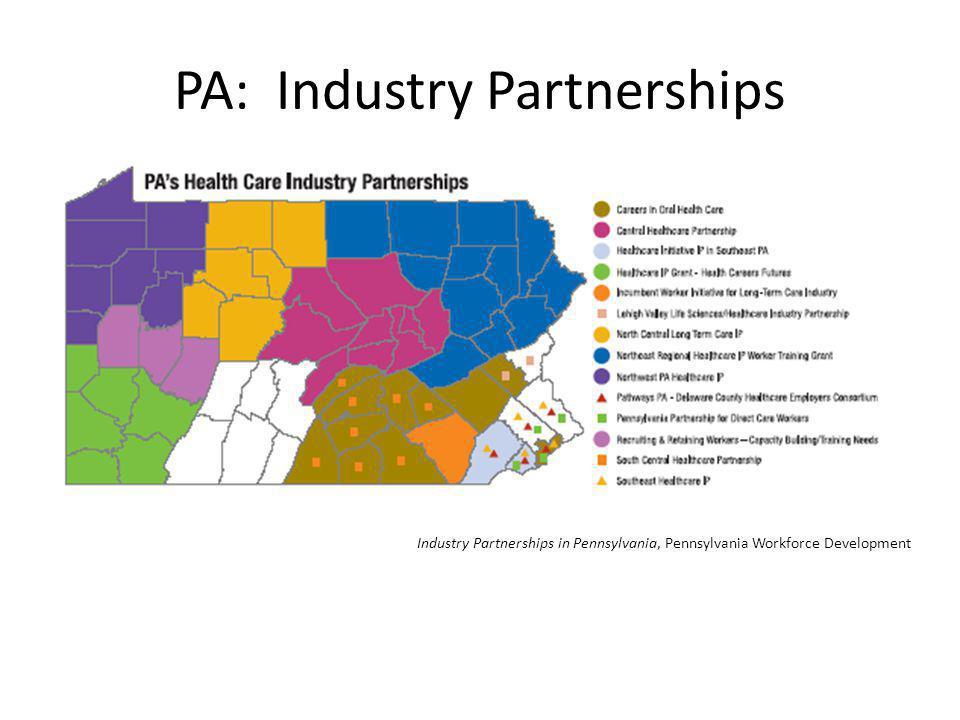 PA: Industry Partnerships Industry Partnerships in Pennsylvania, Pennsylvania Workforce Development