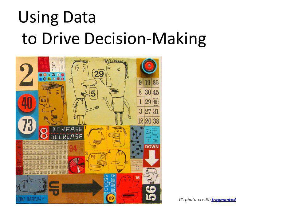 Using Data to Drive Decision-Making CC photo credit: fragmentedfragmented