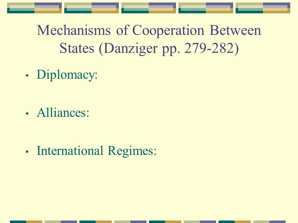 Mechanisms of Cooperation Between States (Danziger pp.