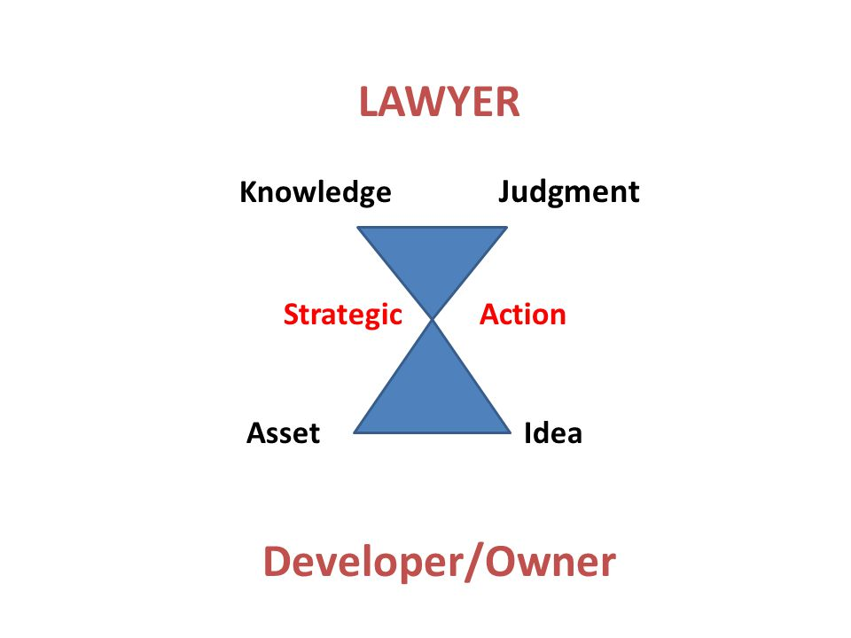 LAWYER Knowledge Judgment Strategic Action Asset Idea Developer/Owner