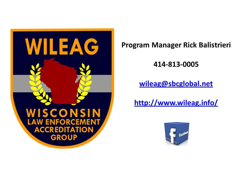 Program Manager Rick Balistrieri 414-813-0005 wileag@sbcglobal.net http://www.wileag.info/