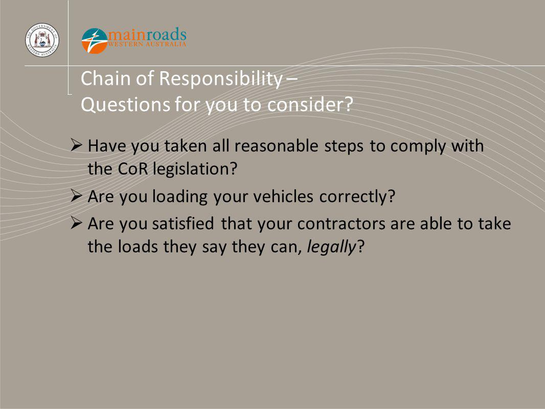 Chain of Responsibility – Questions for you to consider.