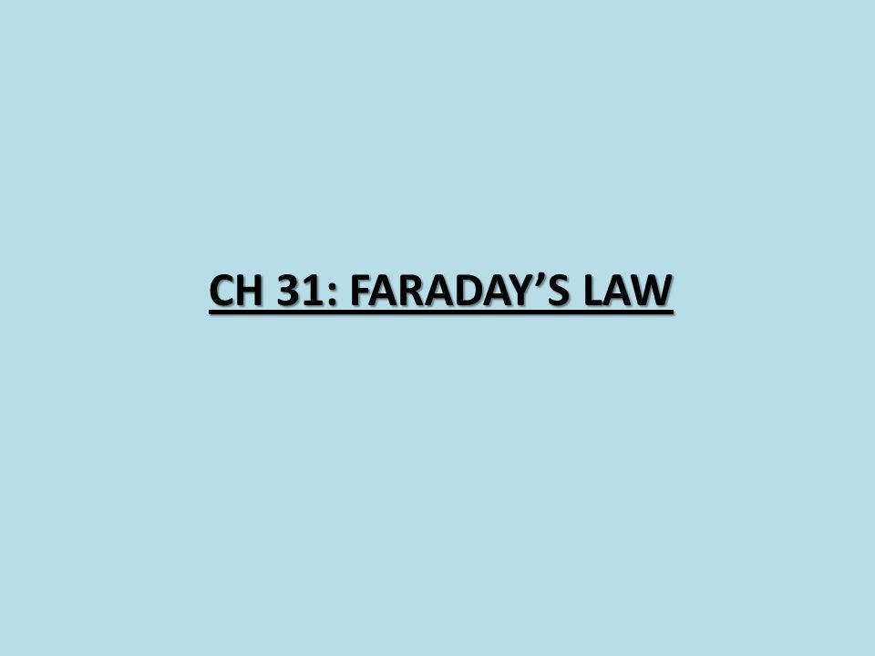 CH 31: FARADAYS LAW