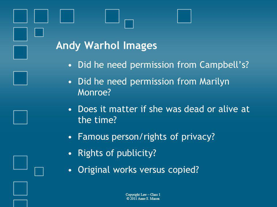 Andy Warhol Images Did he need permission from Campbells.