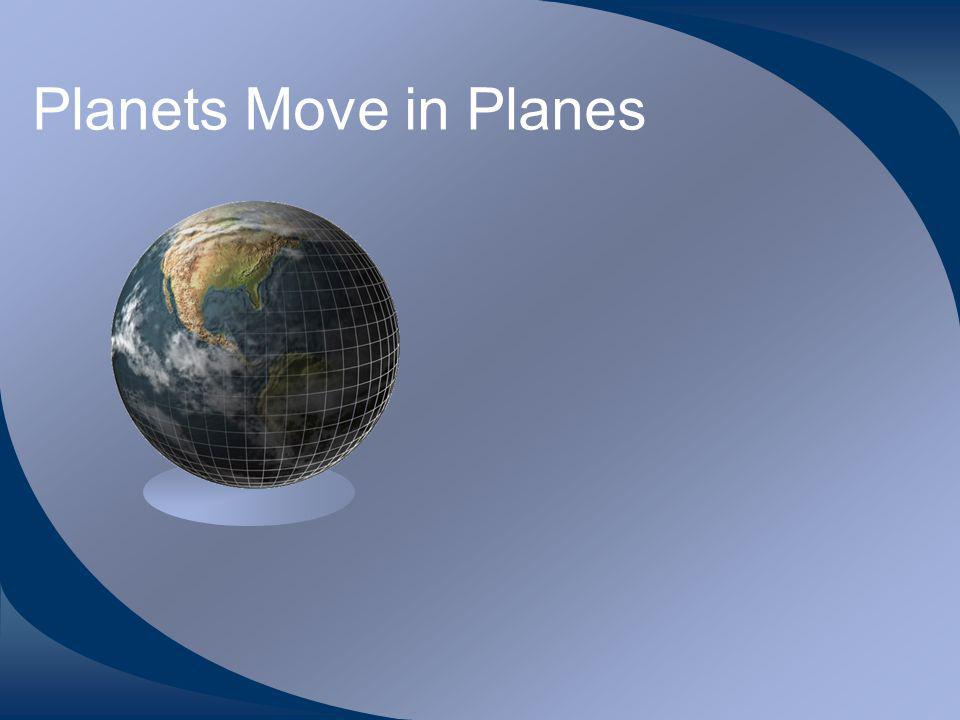 Planets Move in Planes