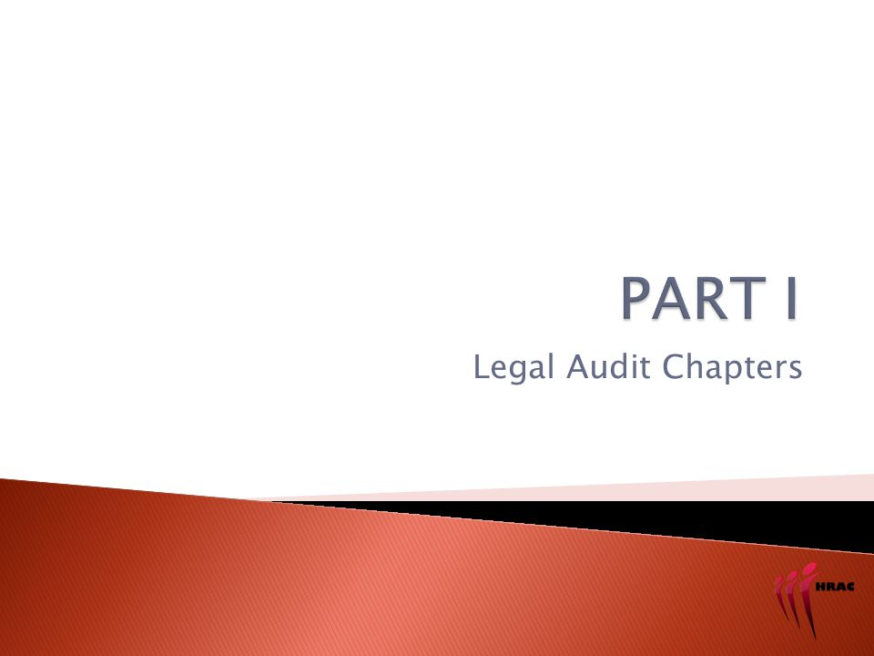 Legal Audit Chapters