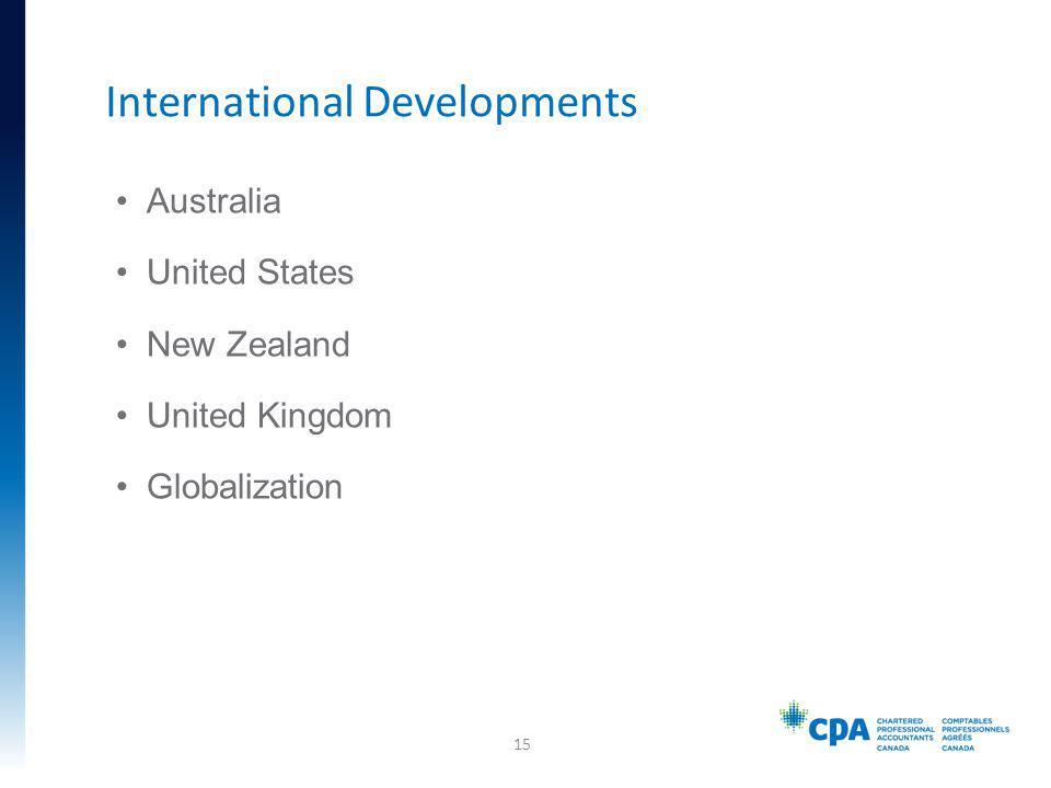 Australia United States New Zealand United Kingdom Globalization International Developments 15