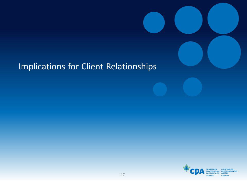 Implications for Client Relationships 17