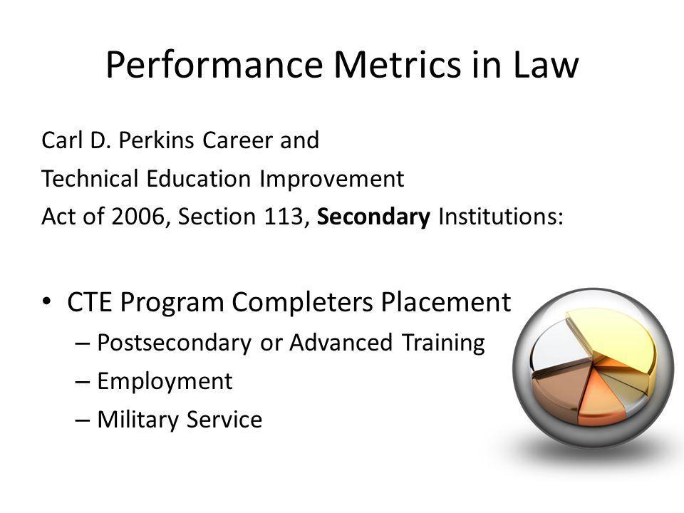 Performance Metrics in Law Carl D.
