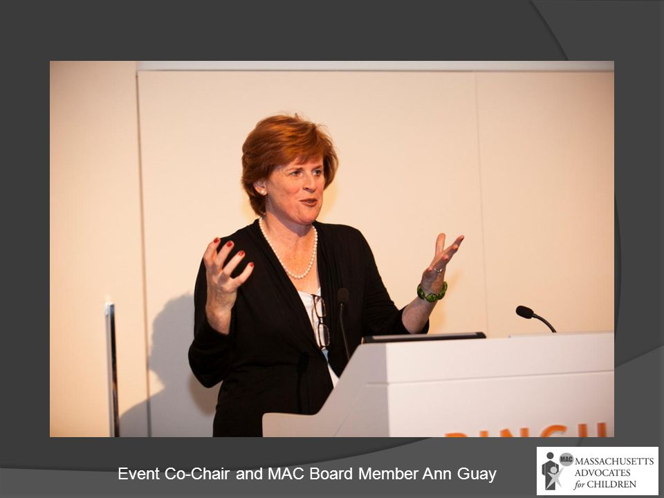 Event Co-Chair and MAC Board Member Ann Guay
