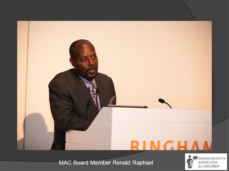 MAC Board Member Renald Raphael