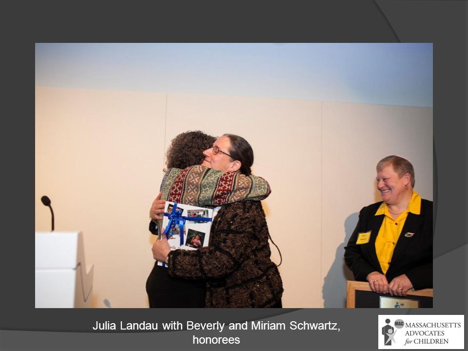 Julia Landau with Beverly and Miriam Schwartz, honorees