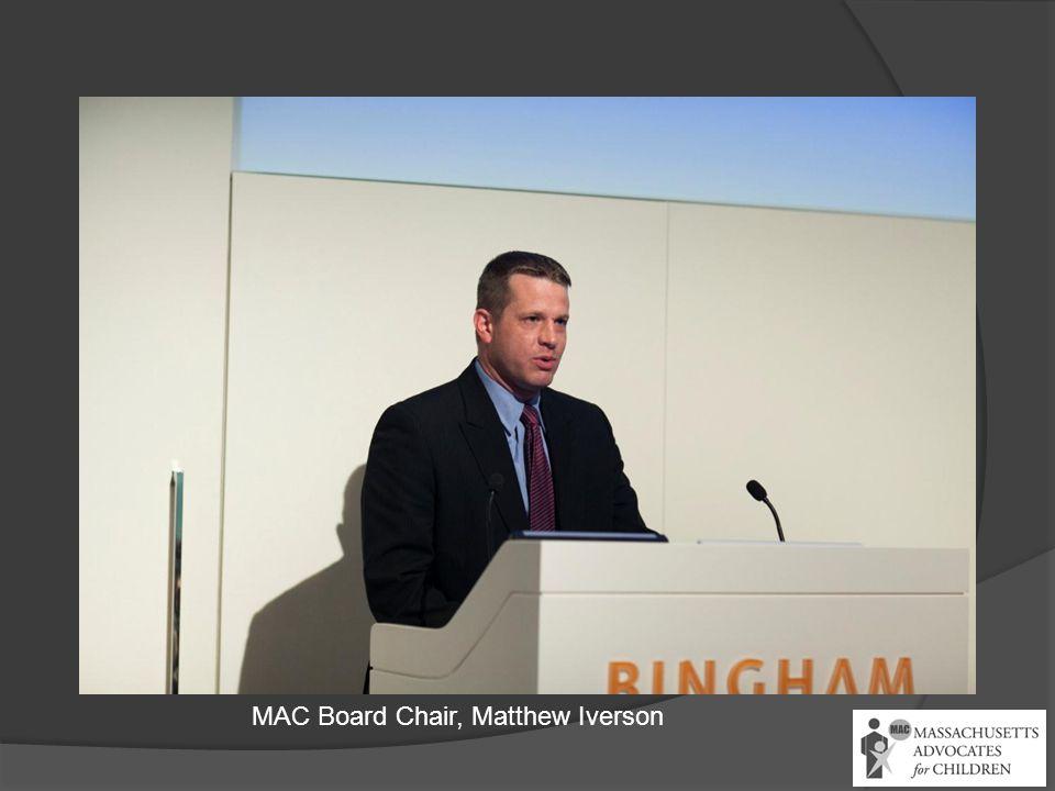 MAC Board Chair, Matthew Iverson