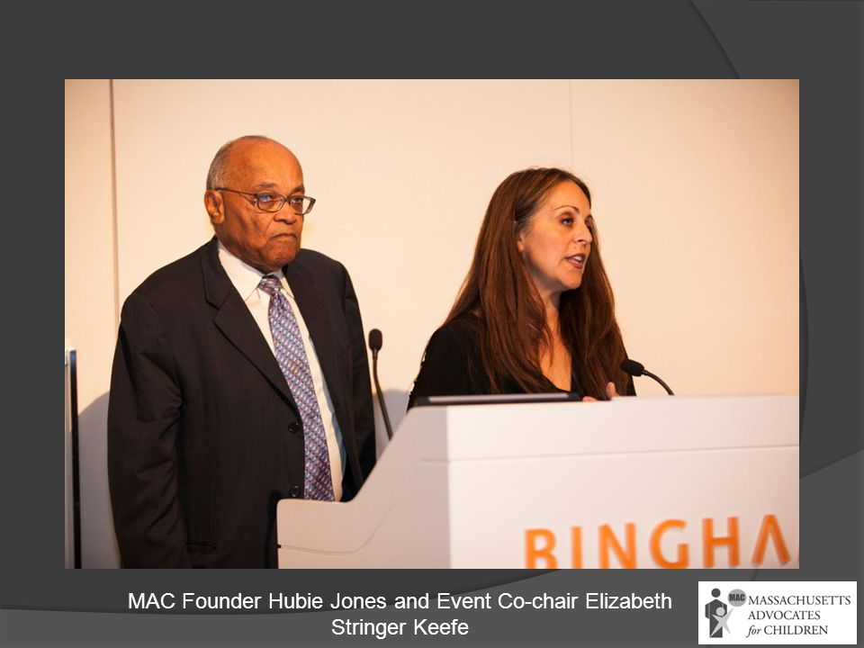 MAC Founder Hubie Jones and Event Co-chair Elizabeth Stringer Keefe