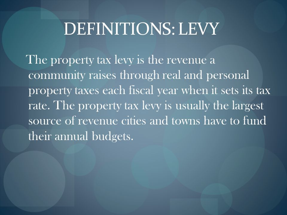 PROPERTY TAX CLASSIFICATION Assessors must classify all real property according to use as of each January 1 Municipalities decide annually within limi