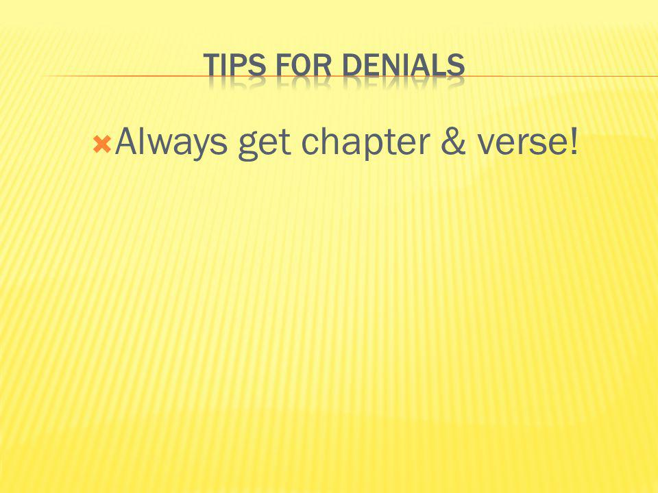 Always get chapter & verse!