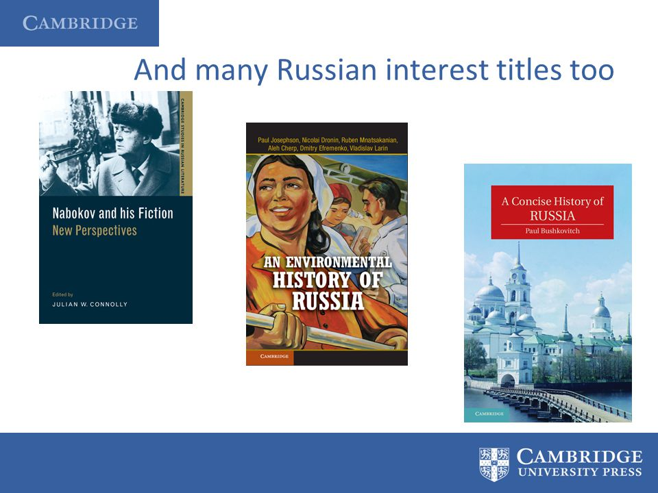 And many Russian interest titles too
