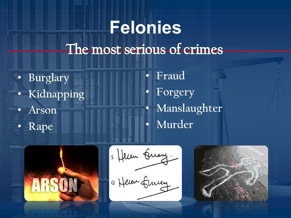 Punishment for Felonies Punishment for murder punishment can be death, in GA can be 1-20 years, life, life w/o parole or death.