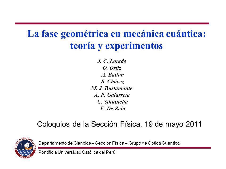 La fase geométrica en mecánica cuántica: teoría y experimentos J.