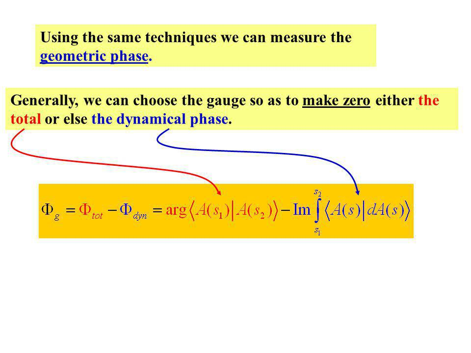 Using the same techniques we can measure the geometric phase.