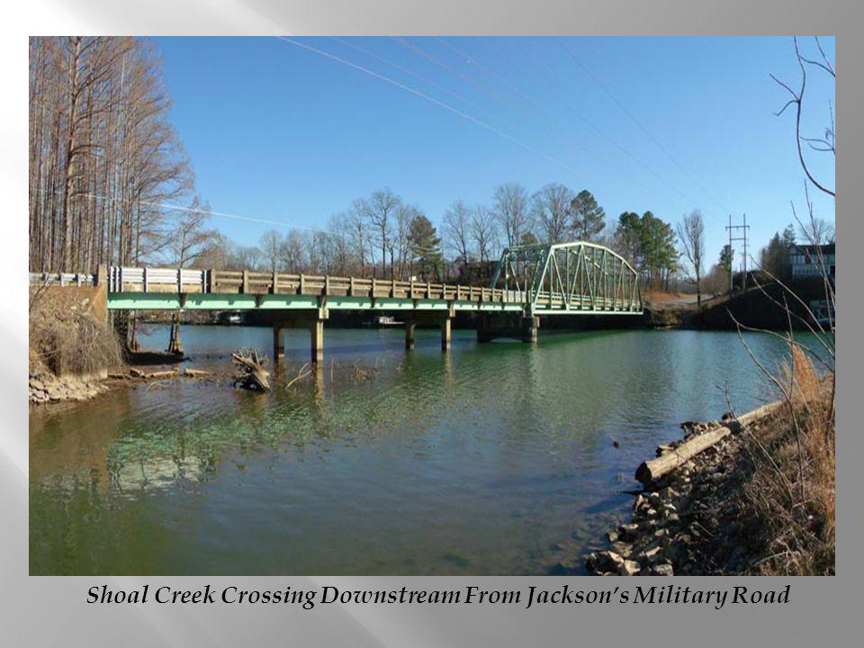Shoal Creek Crossing Downstream From Jacksons Military Road