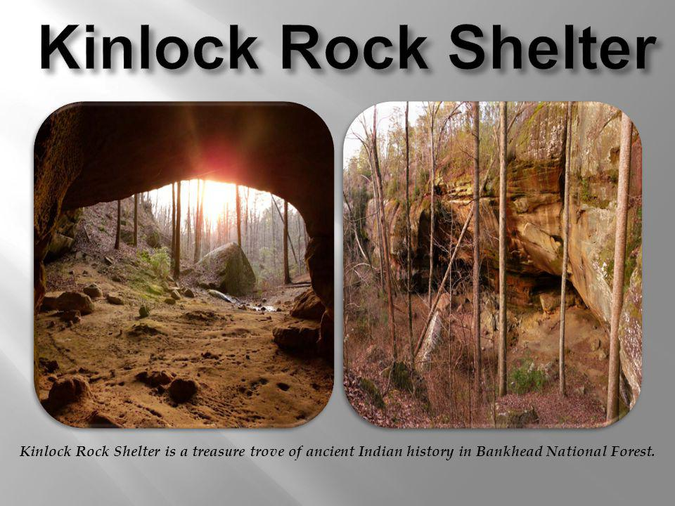Kinlock Rock Shelter is a treasure trove of ancient Indian history in Bankhead National Forest.