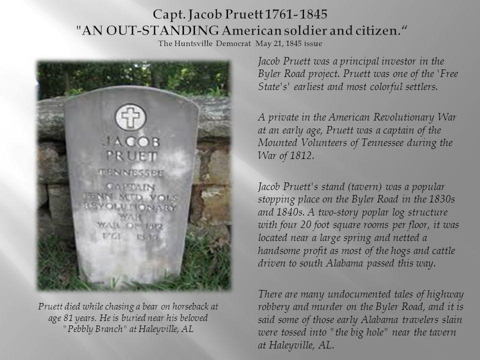 Jacob Pruett was a principal investor in the Byler Road project.