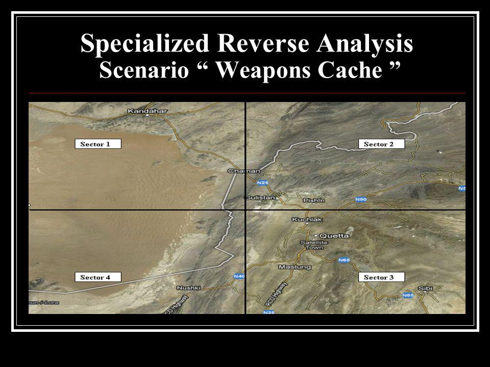 Specialized Reverse Analysis Scenario Weapons Cache