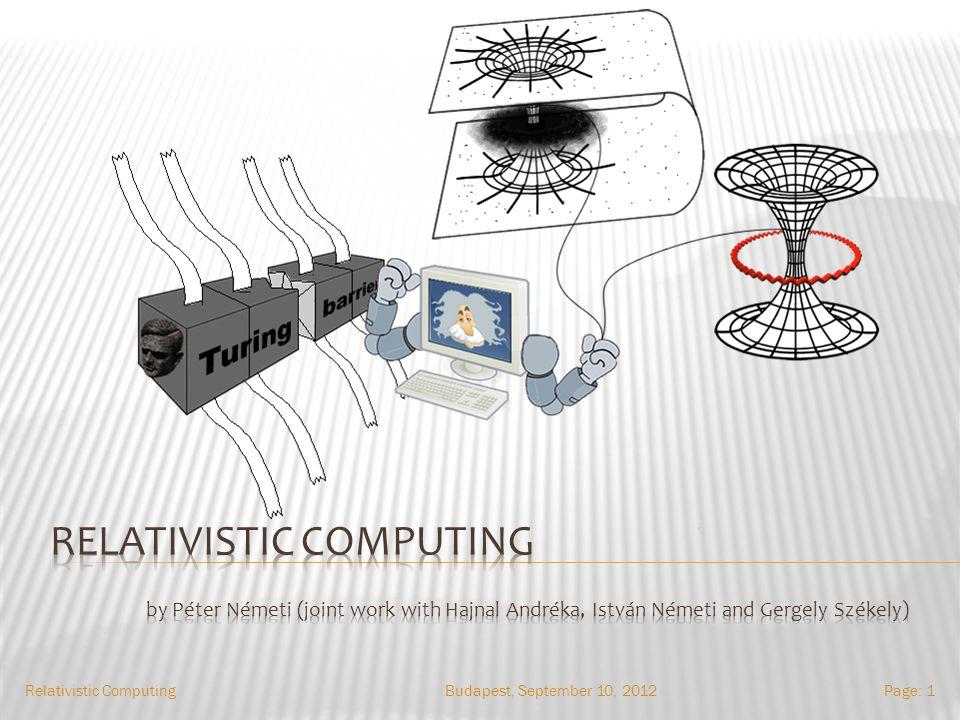 Budapest, September 10, 2012Relativistic ComputingPage: 1
