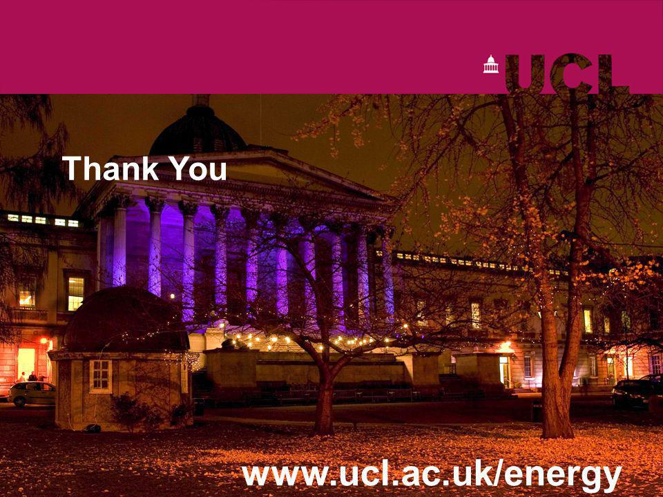 Thank You www.ucl.ac.uk/energy