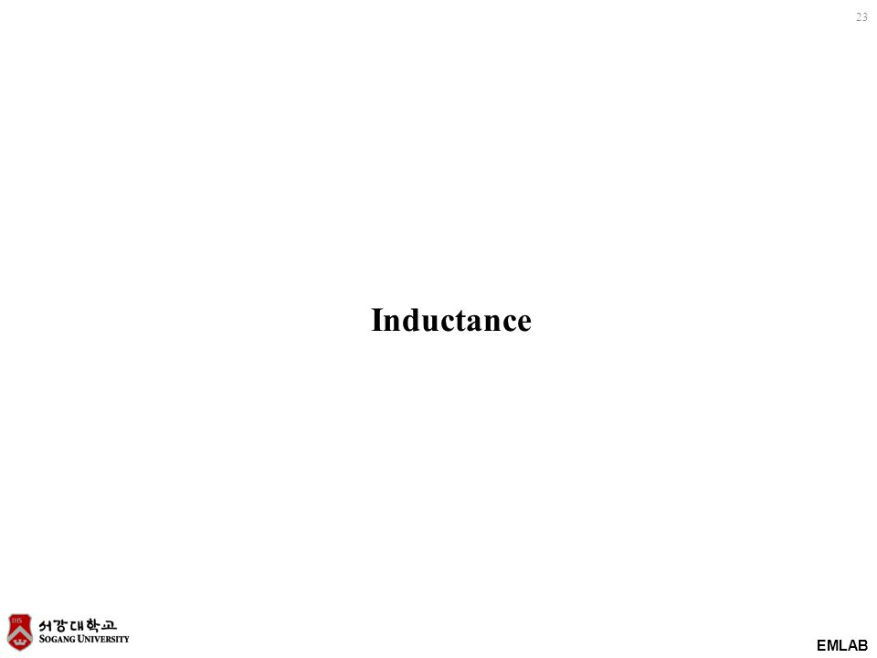 23 EMLAB Inductance