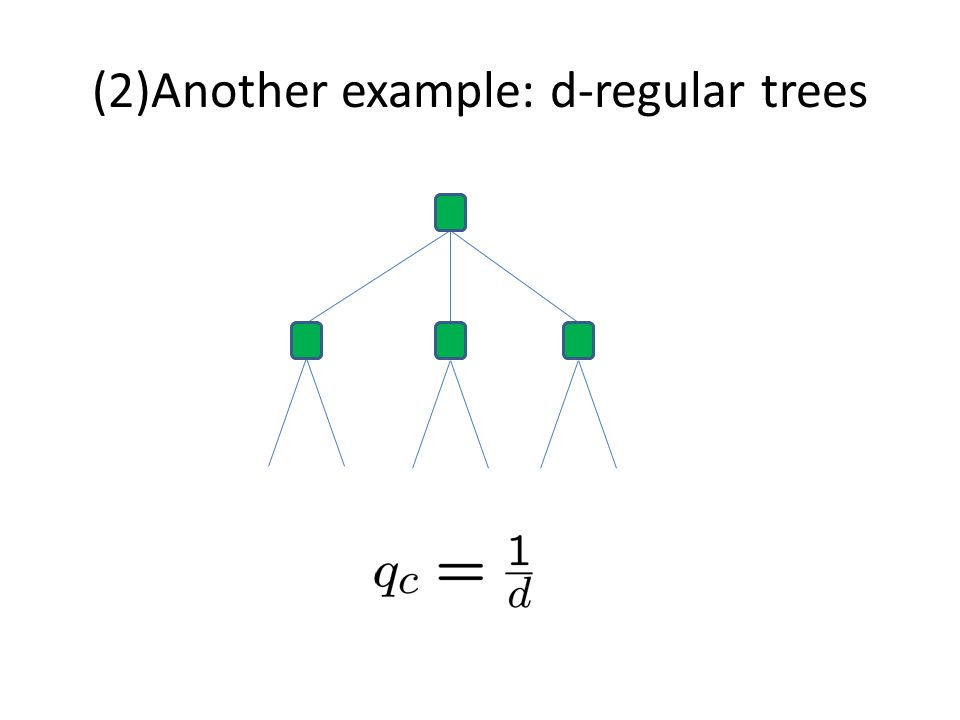 (2)Another example: d-regular trees