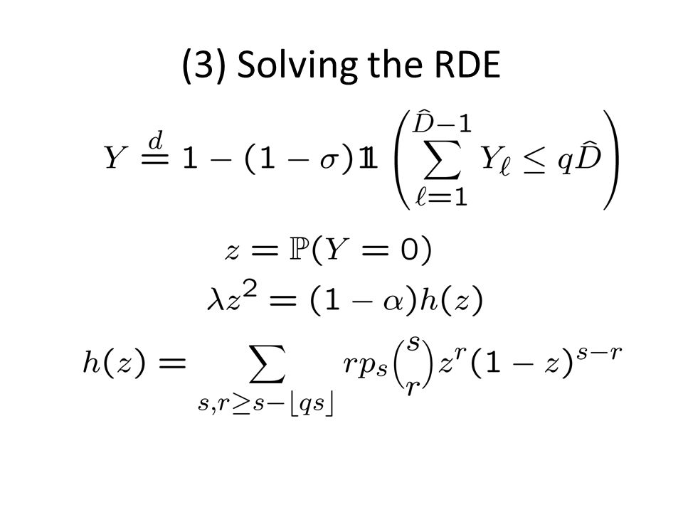 (3) Solving the RDE