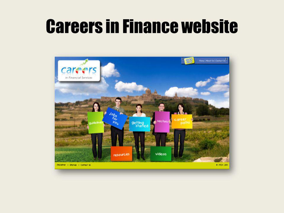Careers in Finance website
