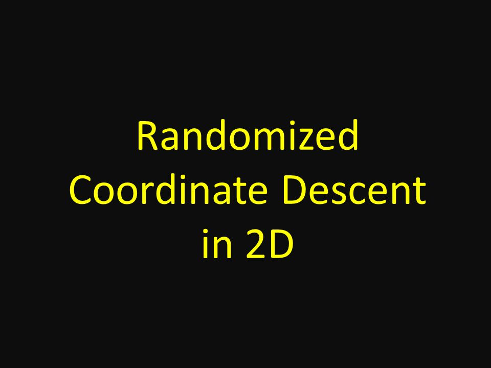 Randomized Coordinate Descent in 2D