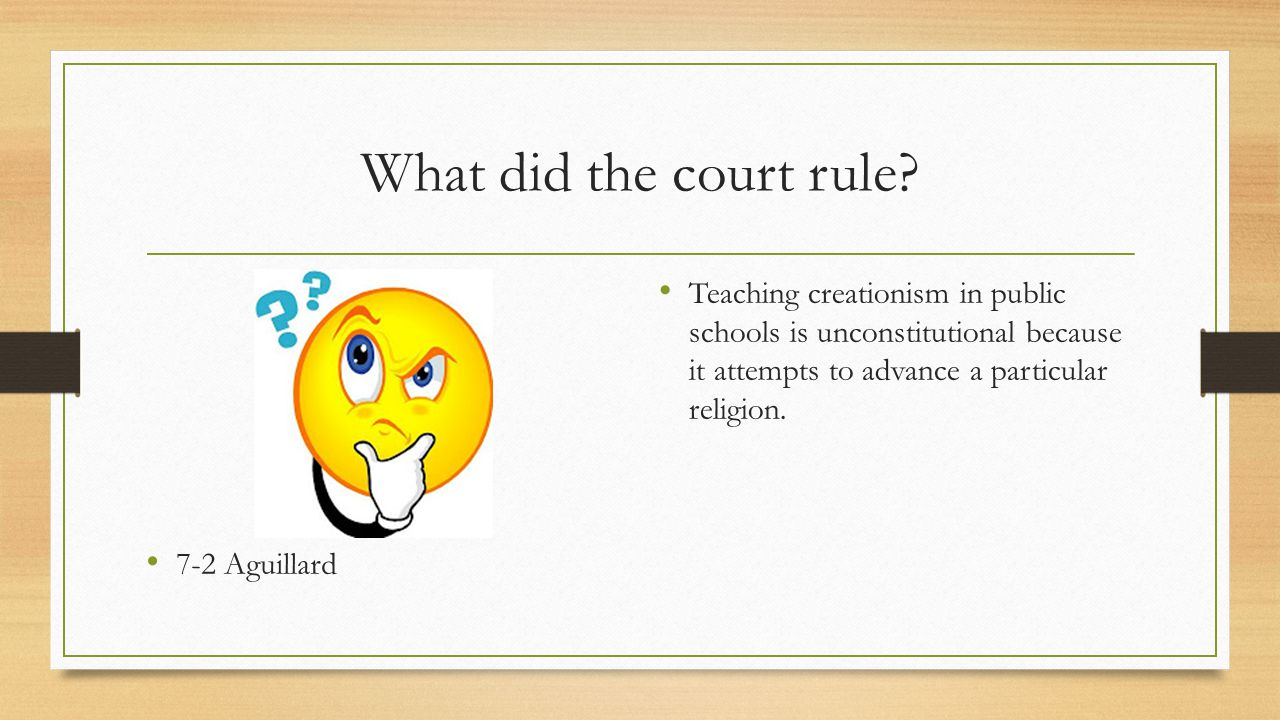 Did the Louisiana law, which mandated the teaching of