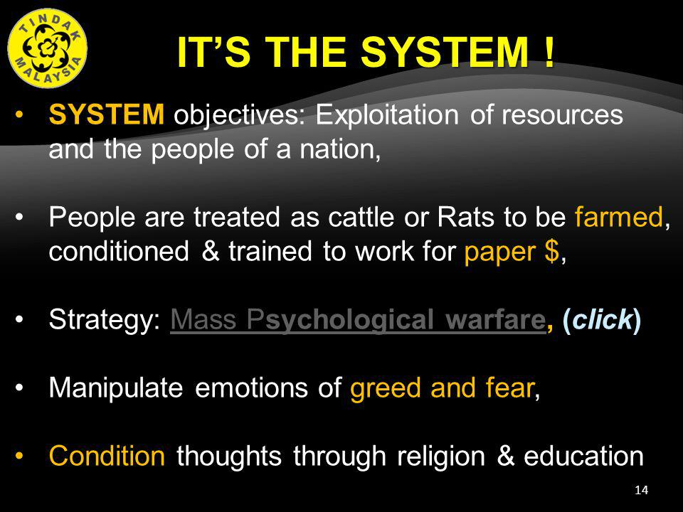 14 ITS THE SYSTEM .