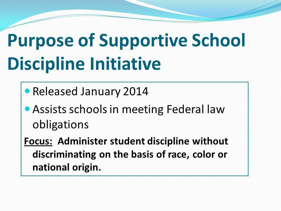 The Principles Are and Are Not Are Are Not A resource guide An outline of three priorities Developed for policymakers, district officials, school leaders, and stakeholders Useful to improve school climate and discipline.