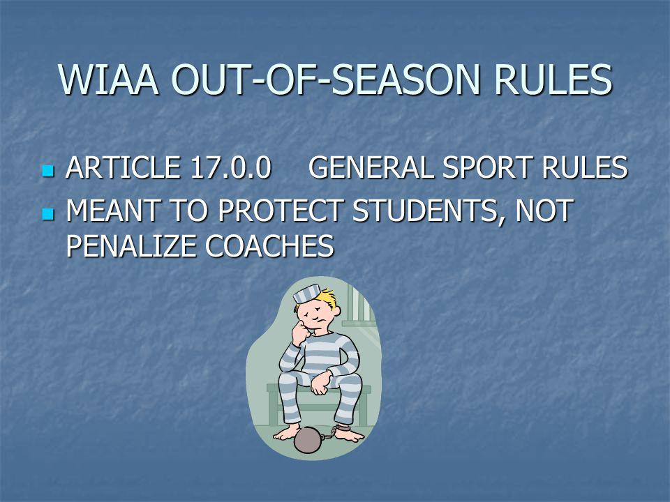 Schools are initially required to self report any WIAA rule violations and recommended disciplinary action to their league Schools are initially required to self report any WIAA rule violations and recommended disciplinary action to their league