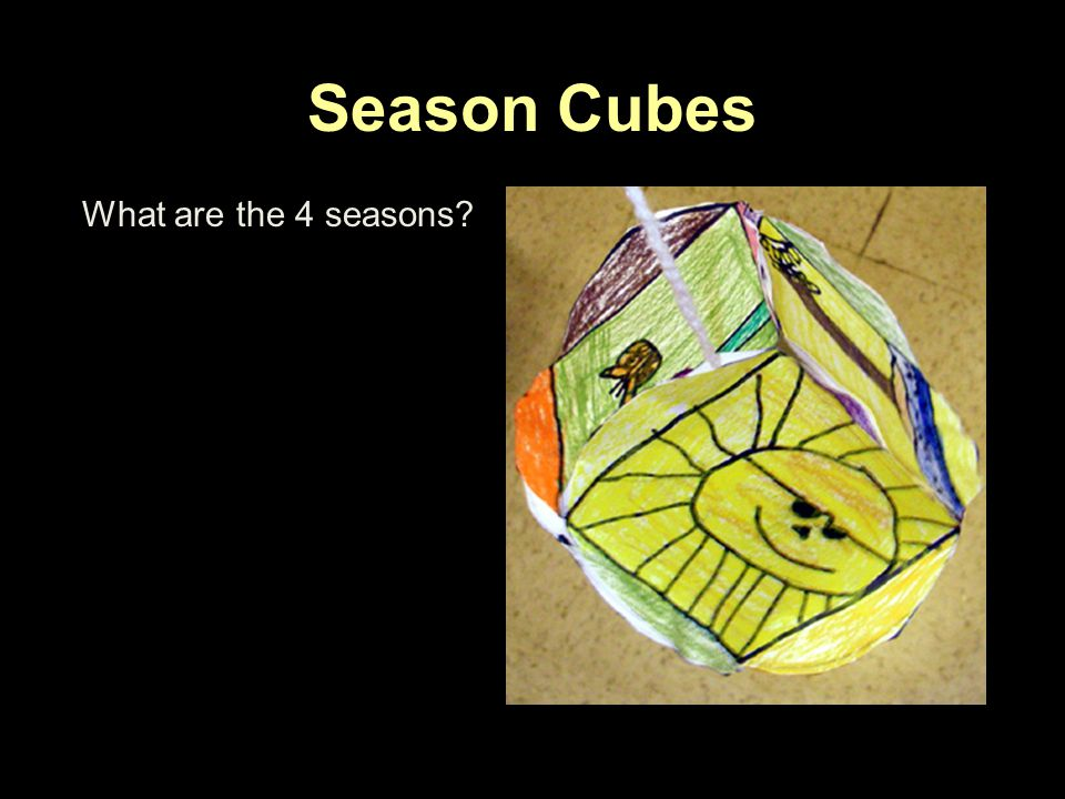 Season Cubes What are the 4 seasons