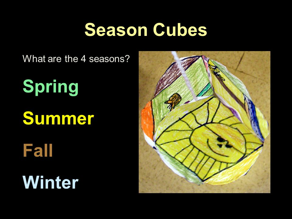 Season Cubes What are the 4 seasons? Spring Summer Fall Winter