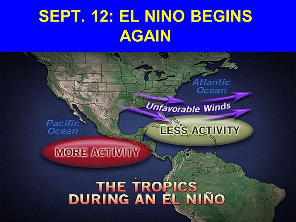 SEPT. 12: EL NINO BEGINS AGAIN