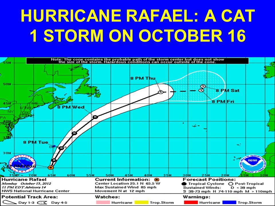 HURRICANE RAFAEL: A CAT 1 STORM ON OCTOBER 16
