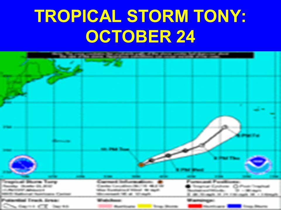TROPICAL STORM TONY: OCTOBER 24