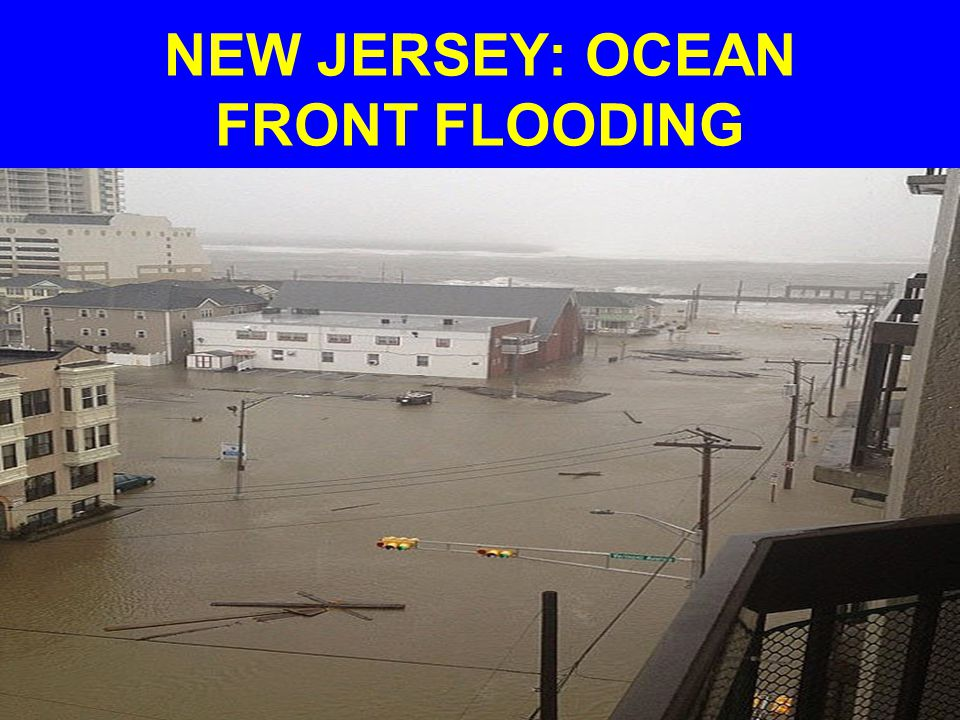 NEW JERSEY: OCEAN FRONT FLOODING