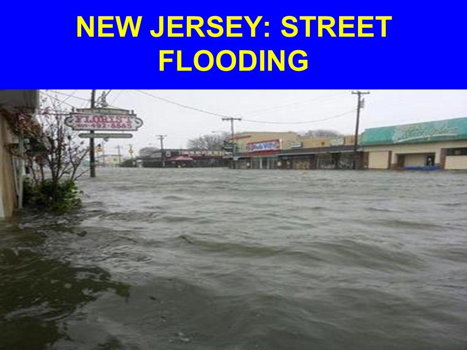 NEW JERSEY: STREET FLOODING